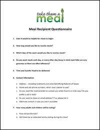 Meal Recipient Questionnaire