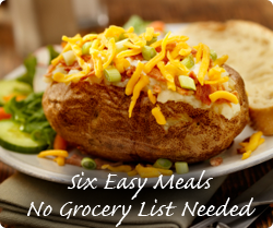 Six Easy Meals - No Grocery List Needed