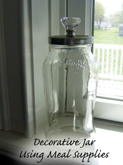 Decorative Jar Using Meal Supplies