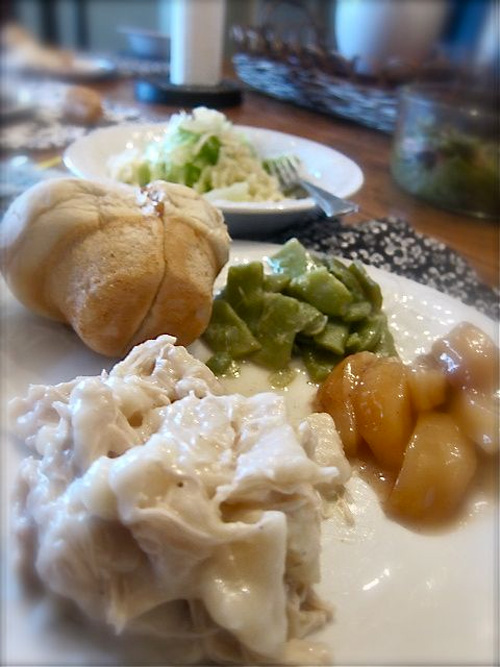 Chicken n Dumplings, Baked Apples