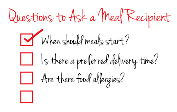 Questions To Ask A Meal Recipient