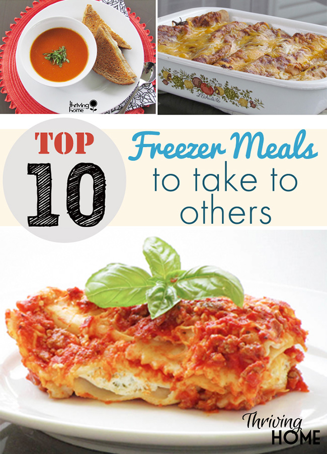 Top 10 Freezer Meals to Take to Others