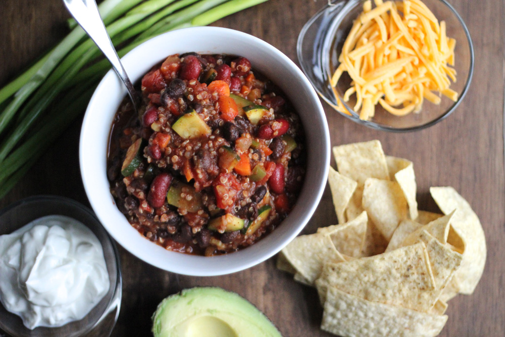 Vegetarian Quinoa Chili Vegetarian Main Dishes Gluten Free