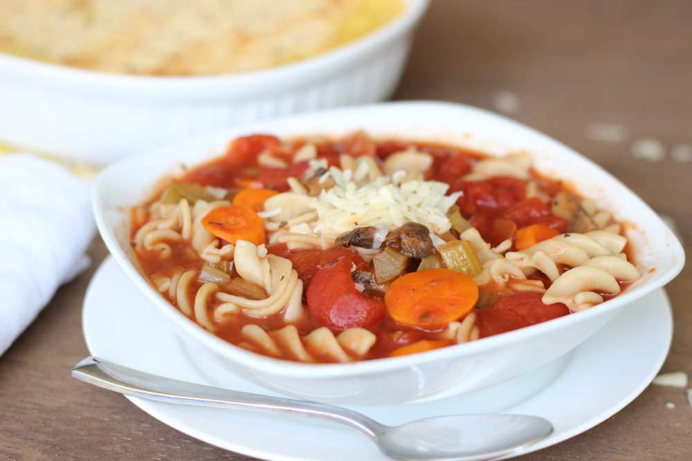 Slow Cooker Vegetable Minestrone