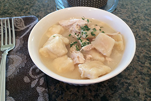 Comfy in the Kitchen's Easy Chicken and Dumplins