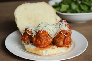 Mini Turkey Meatballs and Simple Tomato Sauce