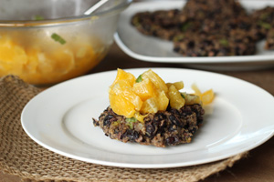 Black Bean Cakes with Orange Basil Salsa