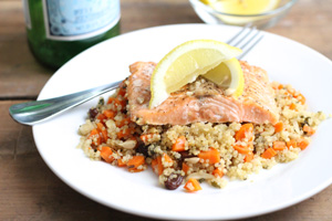 Salmon and Quinoa Pilaf