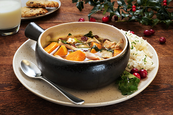 Christmas Comfort and Joy Soup Meal with Seasoned Rice (2Q)
