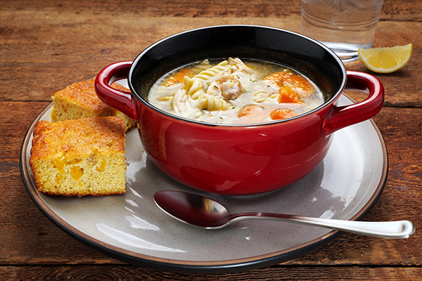 Good Ol' Chicken Noodle Soup Meal with Cornbread (3Q)