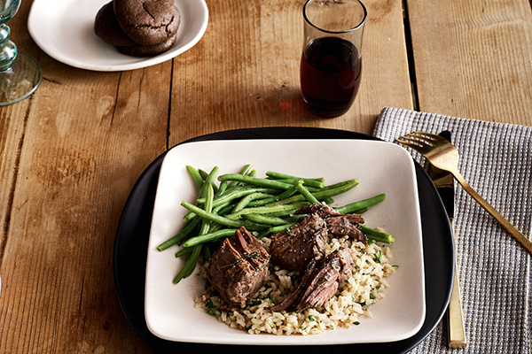 Herb Roasted Beef with Seasoned Rice