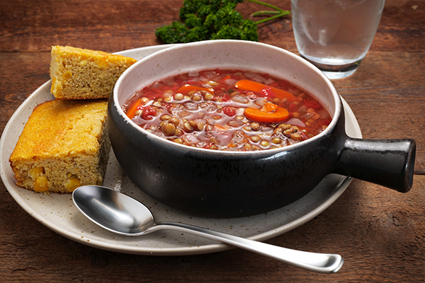 Imagine John Lentil Soup Meal with Cornbread (3Q)