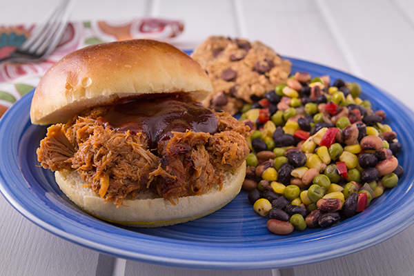 Pulled Pork with Vegetable Bean Medley