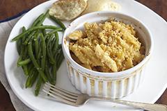 Mac and Cheese with Green Beans