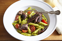 Tuscan Braised Beef and Pesto Pasta