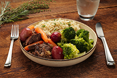 Pot Roast and Vegetables with Seasoned Rice