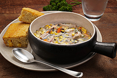 Turkey and Wild Rice Soup Meal with Cornbread (2Q)
