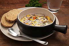 Turkey and Wild Rice Soup Meal with 9-Grain Bread (2Q)