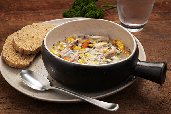Turkey and Wild Rice Soup Meal with 9-Grain Bread