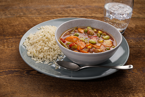 Very Vegetable, Vegetable Soup Meal with Seasoned Rice (3Q)