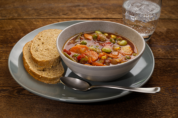 Very Vegetable, Vegetable Soup Meal with 9-Grain Bread